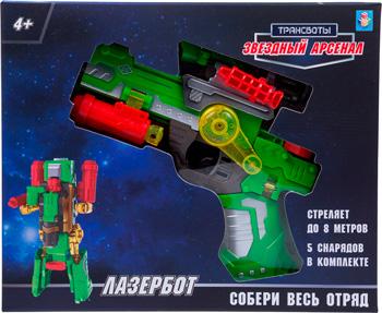 Трансботы 1 Toy ''Звёздный арсенал: Лазербот'' (оружие трансформируется в робота из 5 штук собирается большой робот