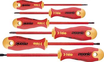 Набор диэлектрических отверток Felo Ergonic 6 шт 41396198 набор диэлектрических отверток fit 56130