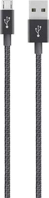 Фото - Кабель Belkin USB папа/microUSB папа 1 2м черный металлик (F2CU021bt04-BLK) belkin f2cu012 usb microusb розовый