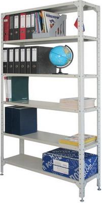 Стеллаж металлический Универсал (в2000*ш1000*г400мм) 6 полок в комплекте регулир. опоры 290349