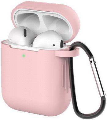 Фото - Чехол для наушников Eva для Apple AirPods 1/2 с карабином - Розовый (CBAP40P) браслет розовый кварц 17 см биж сплав