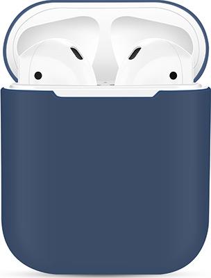 Фото - Чехол силиконовый Eva для наушников Apple AirPods 1/2 - Темно-Синий (CBAP03DBL) кармен синий кпб сатин 1 6 sofi de marko кармен синий кпб сатин 1 6