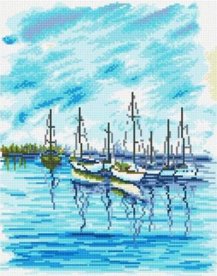 Фото - Алмазная мозаика Цветной ''Морской пейзаж'' (40х50) на подрамнике lg045 алмазная мозаика цветной букет нежных цветов 40х50 на подрамнике lg104