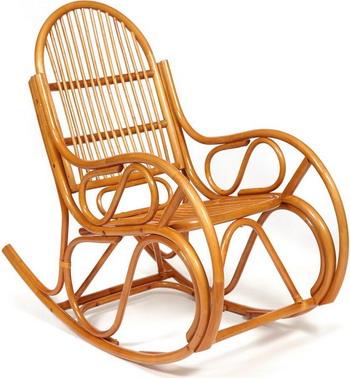 Кресло-качалка Tetchair VIENNA (разборная) / без подушки ротанг top quality 58x133x102 см Cognac (коньяк) 12997