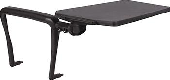 Стол (пюпитр) для стула Brabix Iso CF-001 для конференций складной пластик/металл черный 531851