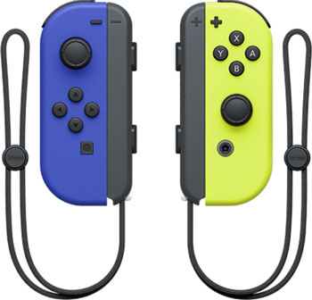 Геймпад Nintendo Switch Набор 2 Контроллера Joy-Con (синий / неоновый желтый) геймпад nintendo switch joy con controllers duo красный синий