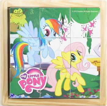 Кубики Играем Вместе My little pony 9 кубиков играем вместе мяч my little pony с рожками цвет розовый 45 см