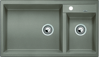 Кухонная мойка Blanco METRA 9 SILGRANIT (чаша слева) серый беж фото