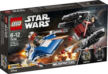 Конструктор Lego Star wars Истребитель типа A против бесшумного истребителя СИД 75196