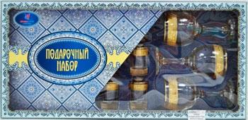 Подарочный набор Гусь Хрустальный 12 пр. арт.1613-ГЗ (Твист) арт дизайн подарочный набор открытка с ручкой самой фееричной тебе