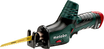 Сабельная пила, аллигатор Metabo Powermaxx ASE 10 8 108 В 2x 20Ач кейс602264500 пила metabo powermaxx ase 10 8 2x4 0 liion metal 602264750