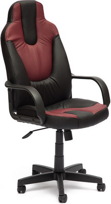 Кресло Tetchair NEO (1) (кож/зам черный бордо PU C-36-6/PU C 36-7)