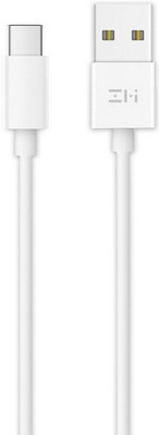 Фото - Кабель Xiaomi ZMI USB/Type-C 100 см (ZSH02) белый кабель xiaomi zmi al701 usb type c 100cm white