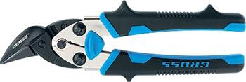 Ножницы по металлу Gross 78361 ''PIRANHA'' 185мм прямой и правый рез сталь-СrM двухкомпонентные рукоятки