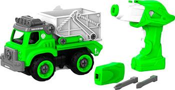 Конструктор SHANTOU BHX TOYS CO самосвал с пультом ДУ зеленый BHX TOYS CJ-1365118