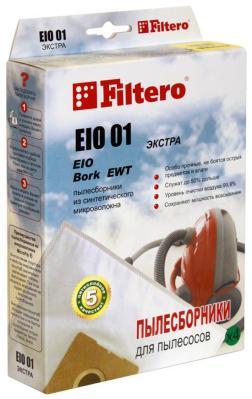 Набор пылесборников Filtero EIO 01 (4) ЭКСТРА набор пылесборников filtero kar 05 4 pro