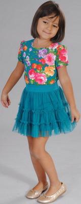 Блуза Fleur de Vie 24-2191 рост 104 морская волна фото