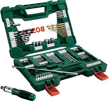 Набор бит и сверл Bosch V-Line Titanium из 91 шт. 2607017195 набор бит и сверел bosch x line titanium 2607019329