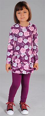 Лосины Fleur de Vie 24-1724 рост 110 фиолетовый туника и лосины fleur de vie арт 14 8871 рост 110 белый