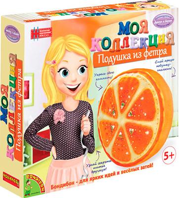 купить Набор для шитья Bondibon МК Шьем из фетра. Подушка-апельсин ВВ1244 по цене 294 рублей
