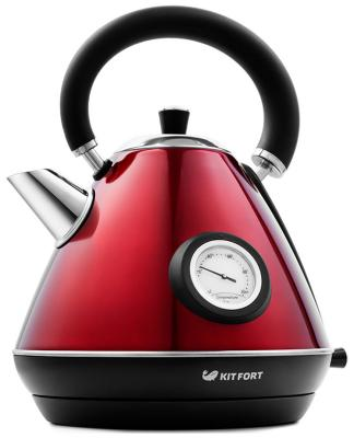 Фото - Чайник электрический Kitfort КТ-644-3 красный endever чайник aquarelle 301 302 303 3 л красный