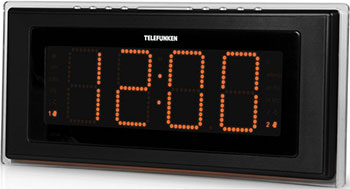 Радиочасы Telefunken TF-1541 (черный с оранжевым)