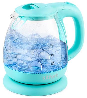 Чайник электрический Kitfort KT-653-1 декантер rcr сабина цвет прозрачный 1 1 л