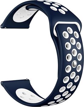 Ремешок для часов Lyambda универсальный для часов 20 mm ALIOTH DS-GS-03-20-BL Blue/White dwt ds 250 gs