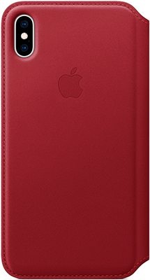 Чехол (флип-кейс) Apple Leather Folio для iPhone XS Max цвет (PRODUCT RED) красный MRX32ZM/A цены