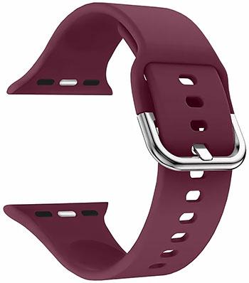 Силиконовый ремешок Lyambda для Apple Watch 38/40 mm AVIOR DSJ-17-40-WR Wine red