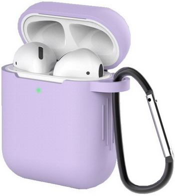 Фото - Чехол для наушников Eva для Apple AirPods 1/2 с карабином - Фиолетовый (CBAP40PR) ваза для цветов art east жостово 30 см бочка фиолетовый