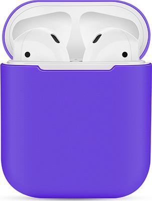Фото - Чехол силиконовый Eva для наушников Apple AirPods 1/2 - Темно-Фиолетовый (CBAP03DPR) ваза для цветов art east жостово 30 см бочка фиолетовый
