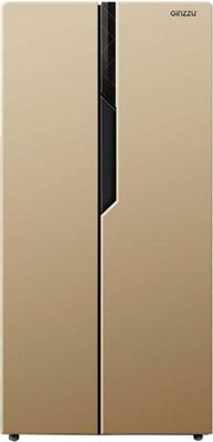 Холодильник Side by Side Ginzzu NFK-420 золотистый холодильник ginzzu nfk 510 gold glass