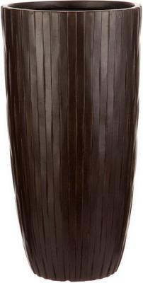 Напольный горшок для цветов Идеалист Lite Буллет файберстоун коричневый Д23.5 В45 см 19 л ROWV23-AB