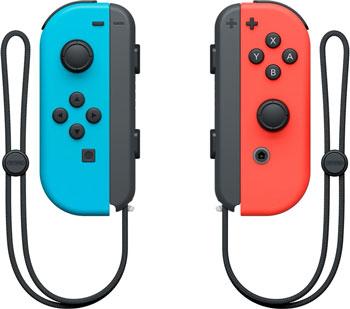 Геймпад Nintendo Switch Набор 2 Контроллеры Joy-Con (неоновый красный / неоновый синий)