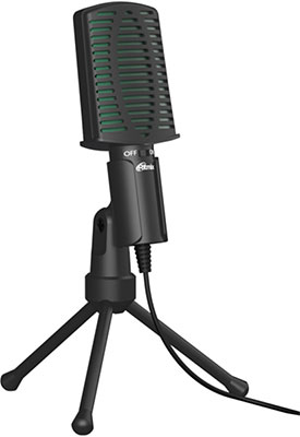 Фото - Микрофон настольный Ritmix RDM-126 Black-Green микрофон ritmix rdm 160 black