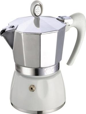 Гейзерная кофеварка G.A.T DIVA 6 чашек белая 101506 кофеварка гейзерная rainbow 0 24 л на 6 чашек фуксия 5013 bialetti