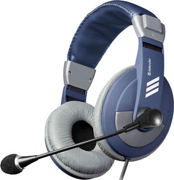 Компьютерная гарнитура Defender Gryphon HN-750 синий 63748 стоимость
