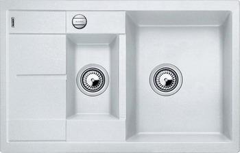 Кухонная мойка Blanco METRA 6S COMPACT SILGRANIT белый кухонная мойка blanco metra 6s compact silgranit антрацит