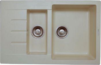 Кухонная мойка LAVA D.2 (CREMA)
