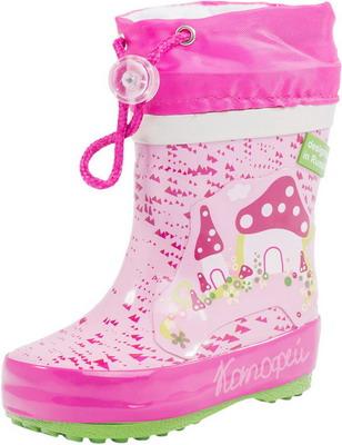 Сапоги Котофей 166063-11 р. 22 розовые аквашуз для девочки котофей цвет белый фуксия 524024 11 размер 33
