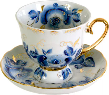 Чайная пара Добрушский фарфор 6С0888 Бутон 300 см3 ''Александра'' набор для супа добрушский фарфор пион 10 пр 2с0150