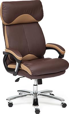 Офисное кресло Tetchair GRAND (Кожа /кож.зам/ткань коричневый/бронза-21) кресло офисное руководителя tetchair ch 9944 пластик доступные цвета обивки искусств коричневая кожа