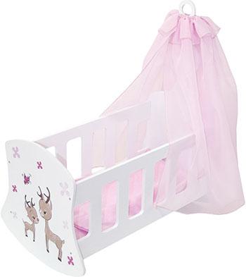 Кроватка для кукол Paremo с балдахином серии ''Мимими'' ''Крошка Зуи'' Мини