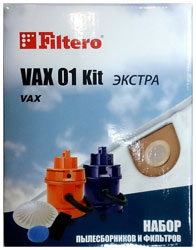 Набор пылесборники + фильтры Filtero VAX 01 (2) Kit ЭКСТРА набор пылесборники фильтры topperr 1409 lg 20