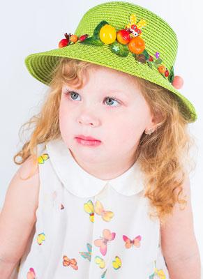 Шляпка Vintage Забава зеленый