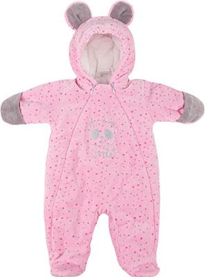 Комбинезон Picollino велюровый Мишка утепленный СК3-КМ001 (в) розовый горох 68-44(22) 6 мес. комбинезон утепленный для новорожденного boom вариант 2 цвет молочный 90011 bom размер 68 6 месяцев