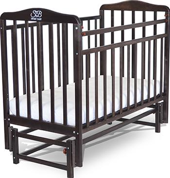 Детская кроватка Sweet Baby Flavio Wenge (Венге) 382 005 кроватка daka baby укачай ка 02 цвет венге