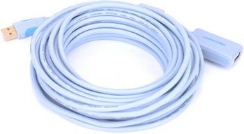 Активный кабель-удлинитель Vention USB 2.0 AM/AF с усилителем VAS-C 01-S 1000 - 10м переходник usb2 0 usb c m microb 5p vention vas s10 w белый