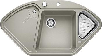 Кухонная мойка Blanco 523659 DELTA II SILGRANIT жемчужный с кл.-авт. InFino кухонная мойка blanco zenar 45 s чаша слева белый с кл авт infino
